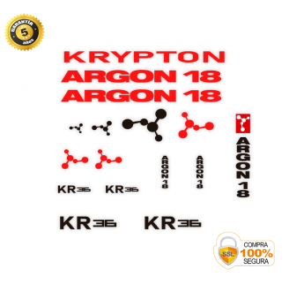 ARGON KRYPTON PEGATINAS...